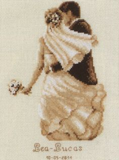 Tender Moment Wedding Sampler Cross Stitch Kit by Vervaco (one)