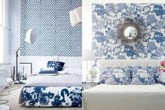 Blue and white rooms ideas color diary decorating blue and white rooms blue and white bedroom . blue and white rooms ideas Chinoiserie, Diy Plants, White Bedroom Design, Blue Bedroom, Bedroom Designs, Master Bedroom, Silver Christmas Decorations, Bedroom Decor For Couples, Bedroom Ideas