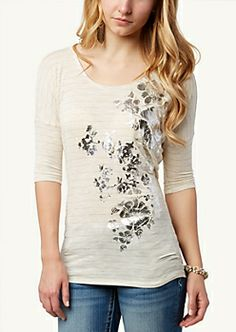 Baroque Rose High Low Top | Fashion | rue21