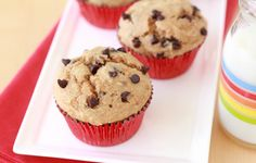 Get the BEST #chocolatechip muffin recipe… only 194 calories each!