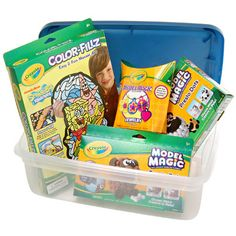 I am a bin filled with magic, what am I?? You are the Crayola Model Magic Kit with Bin