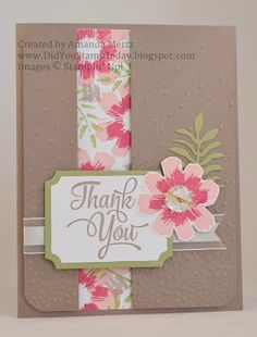 All About Thank Yous - Stampin' Up! All About Everything