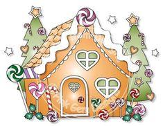 Digital Digi Gingerbread House  Background  by PinkGemDesigns