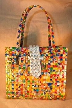 Colorful Recycled Wrapper Bags