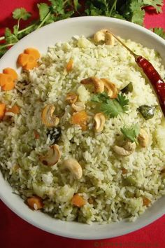 Coriander Rice is a aromatic, flavoursome and deliicous one-pot meal which makes a perfect lunch box recipe too. Do give this recipe a try today. Indian Food Recipes, Asian Recipes, Vegetarian Recipes, Cooking Recipes, Meal Recipes, Boiled Vegetables, Veggies, Basmati Rice Recipes, Lunch Box Recipes