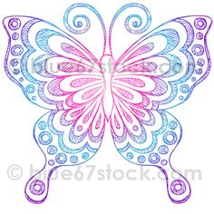 Hand-Drawn Sketchy Butterfly Notebook Doodle Vector Illustration by blue67stock.com by blue67design, via Flickr