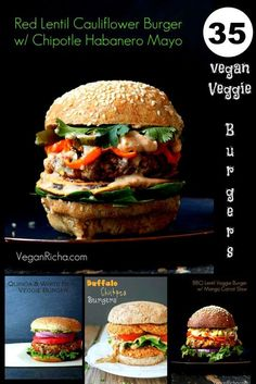 35 Vegan Veggie Burgers No fake meats, loads of beans, lentils, veggies and loads of gluten-free and soy-free options.