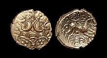 Celtic Iron Age Coins - Iceni - Antedios - Triple Moon Gold Stater