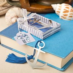 Nautical Theme Anchor Bookmark (FashionCraft 8833) | Buy at Wedding Favors Unlimited (http://www.weddingfavorsunlimited.com/nautical_theme_anchor_bookmark.html).