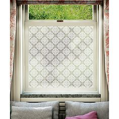 Buy The Window Film Company Window Film, Modello from our Window Film range at John Lewis & Partners. Small Bathroom Window, Bathroom Window Treatments, Bathroom Windows, Bathroom Window Sill Ideas, Window Ideas, Bathroom Ideas, Victorian Window Film, Victorian Windows, Window Privacy Screen