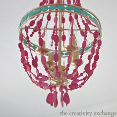 DIY Painted Empire Chandelier {The Creativity Exchange}