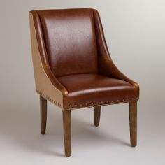 Leather and Jute Wes Dining Chair | World Market