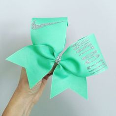 "Mint ""Just Do It"" Bow"