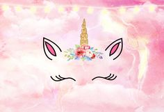 Kate Stars Pink Cloud Unicorn Cake Smash Backdrop for Photography Baby Shower Backdrop, Girl Baby Shower Decorations, Background For Photography, Photography Backdrops, Cake Smash Backdrop, Vinyl Photo Backdrops, Home Photo Studio, Unicorn Backgrounds, Unicorn Birthday Parties