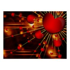 Love Hearts Poster - valentines day gifts love couple diy personalize for her for him girlfriend boyfriend