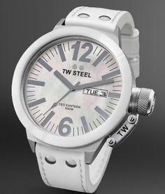 TW Steel: CEO Canteen Kollektion, weiss.