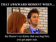 Does this mean I can hug the Doctor? He should take me back in time so I can hug number ten! Who cares about paper cuts when you can hug the Doctor!