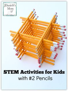 STEM Activities for Kids with Pencils - There are so many engineering and math activities you can do with pencils. STEM Activities for Kids with Pencils - There are so many engineering and math activities you can do with pen Steam Activities, Science Activities, Science Projects, Activities For Kids, Science Experiments, Engineering Projects, Science Ideas, Engineering Challenges, Science Education