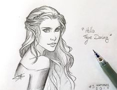 Feyre such a good drawing idk who did this it definitely wasn't me so creds to who ever did it.!!