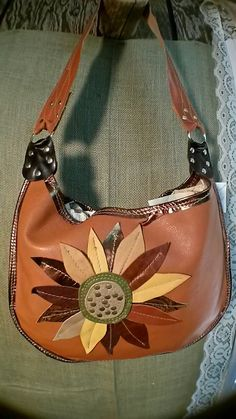 Handcrafted Sunflower bag Made with Assort by WhiteBuffaloCreation