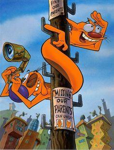 caricaturas Love this show cat dog - Cartoon Shows, Cartoon Art, Cartoon Characters, Cat Dog Cartoon, Nickelodeon Cartoons, 90s Childhood, Childhood Memories, Cartoon Wallpaper, Cartoon Network