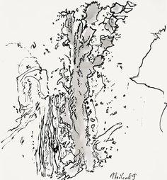 Der Maler Max Weiler 1910-2001 | Kunst - Zeichnungen und Arbeiten auf Papier - Malen auf Papier, 1984-2001 1984, Diagram, Drawings, Art, Paper, Drawing S, Kunst, Art Background, Sketches