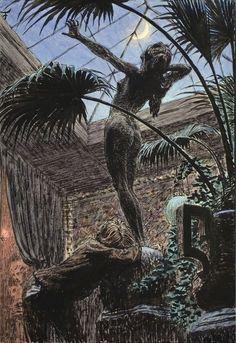 "Hugo Hoeppener (Fidus) - Pygmalion,  Creator Pain /  Purpurtraume (""Purple Dream"") 1896"