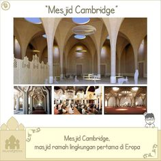 """Mesjid Cambridge - Masjid Ramah Lingkungan Pertama di Eropa"" . Tak hanya memiliki arsitektur menakjubkan masjid ini juga akan menjadi masjid ramah lingkungan pertama di Eropa. . Kota bersejarah di Inggris Cambridge akan membangun sebuah masjid dengan arsitektur menakjubkan. Tak hanya itu masjid ini juga akan menjadi masjid ramah lingkungan pertama di Eropa. . Setelah bertahun-tahun komunitas muslim yang ada di kota tersebut tak memiliki fasilitas ibadah yang memadai. Akhirnya mereka…"