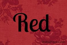 All things RED!