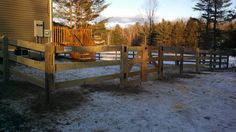3 Rail Horse Fence with Gate