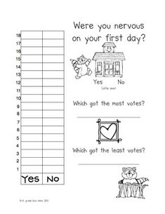 Kissing Hand First Day Back to School Activity Pack.  I like the graphing component of this one.