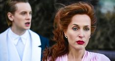 Looking lean in a crop top and jogging bottoms, the British-American actress was spending some time off work with partner Peter Morgan in Portofino, Italy and was pictured enjoying the sun. 10 Film, British American, American Gods, Movie List, Movie Tv, Gillian Anderson, Enjoying The Sun, Picture Description, Movies To Watch