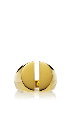 Chevaliere Split Ring In Yellow Gold by Maison Martin Margiela - Spring-Summer 2015 (=)