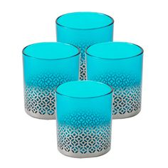 I pinned this Emmaline Votive in Turquoise (Set of 4) from the Gift Boutique event at Joss and Main!