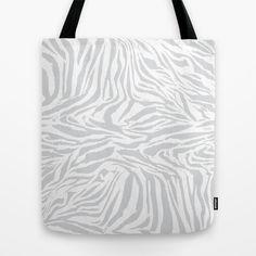 Zebra Allover Tote Bag by patterndesign - $22.00