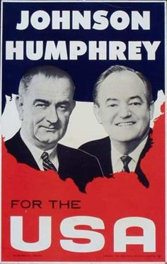 DP Vintage Posters - Johnson Humphrey USA Original Vintage Political Poster