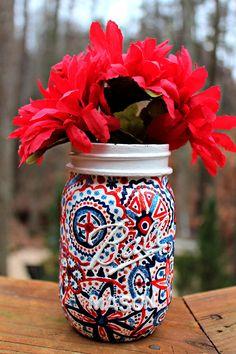 diy painted mason jar