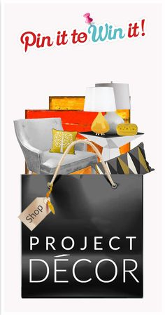 Enter Project Decor's Pin it to Win it Sweepstakes by pinning your favorite shopping bag and win an item of your choice from the bag! Home Decor Styles, Home Decor Accessories, Deco Design, Furniture Styles, Tis The Season, Decorative Items, Cool Stuff, Random Stuff, Make It Yourself