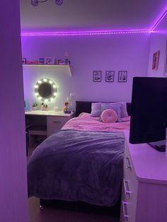 Room Design Bedroom, Room Ideas Bedroom, Bedroom Inspo, Dream Bedroom, Room Decor Bedroom, Beauty Room Decor, Neon Room, Bedroom Decor For Teen Girls, Stylish Bedroom