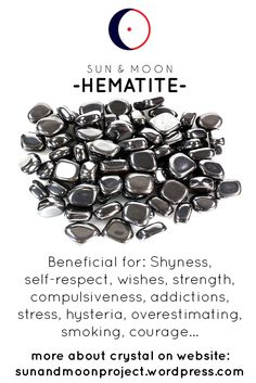All you need to know about Hematite crystal. Good stone for protection and grounding. Here you can find hematite's properties and healing effects. Good for beginners, also connection with astrology and numerology, and magic and manifestation.