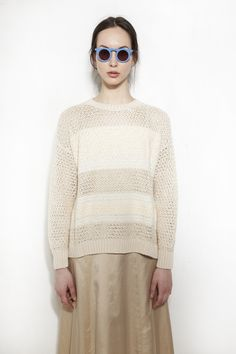 RACHEL COMEY, Mixed Yarn Pullover, Natural | Rachel Comey, Lace Skirt, Ss, Street Style, Pullover, Fashion Outfits, Cream, Stylish, Natural