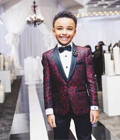 Home> Weddings & Events> Kids Formal Wear> Boy's Formal Wear> Product detail New Print Boy Tuxedos 2019 One Button Shawl Lapel custom Made Boy Wedding Suits Two Piece suits (Jacket+Pants+Tie) Boys Wedding Suits, Tuxedo Wedding, Wedding Attire, Boys Formal Wear, Custom Tuxedo, Boys Tuxedo, Groom Tuxedo, Burgundy Wedding, Maroon Wedding