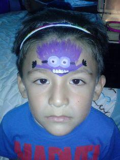Purple minion face paint