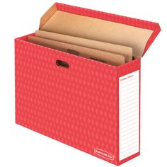Bankers Box® Bulletin Board Storage Boxes offer strength you can trust for secure bulletin board storage. Features FastFold®  quick and easy assembly and a sturdy 2-layer bottom that holds up to 50 lbs.  Reinforced, tear resistant handles on box sides make lifting and carrying easy. Attached flip-top lid you cannot lose. Large labeling area for quick identification and retrieval. 60% recycled content.