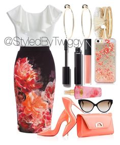 """""""@StyledByTwiggy"""" by styledbytwiggy on Polyvore featuring Coast, Christian Louboutin, Chicwish, NARS Cosmetics, Chanel, Victoria's Secret, Cutler and Gross, Bebe and River Island"""