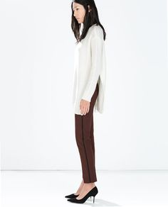 ZARA - WOMAN - TROUSERS WITH SIDE BAND