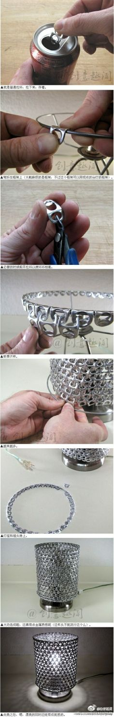 What you can do with pop can tabs. Very time consuming but oh SO cool.