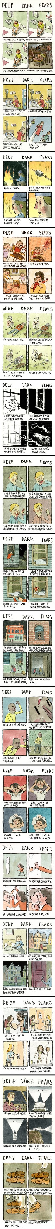 Trendy Quotes Deep Dark Sad So True - Zitate Cute Comics, Funny Comics, Deep Dark Fears, Trauma, The Awkward Yeti, Creepy Stories, Short Comics, New Quotes, True Quotes