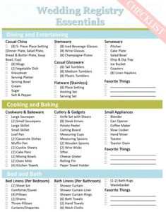 The perfect wedding registry checklist pinterest perfect wedding heres a perfect basic wedding registry checklist from sweet tea proper find all of solutioingenieria Images