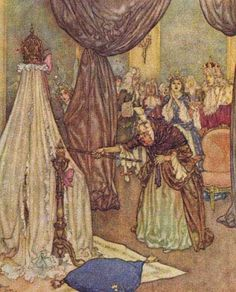 "Edmund Dulac from the 1910 edition of Sir Arthur Quiller-Couch's (1863–1944), ""The Sleeping Beauty and other Fairy Tales."""